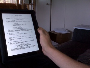 Reading a script on the iPad